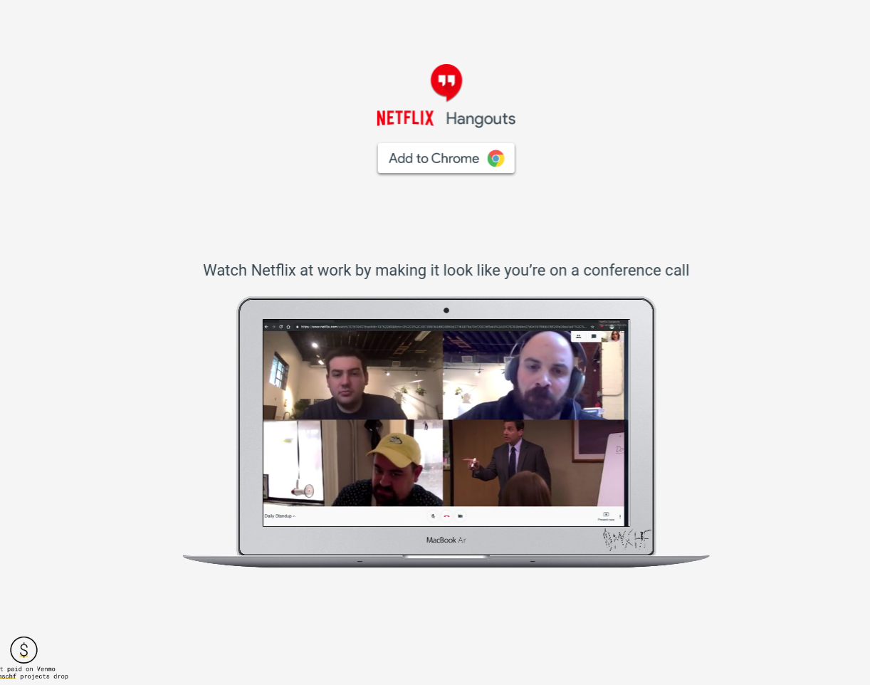 This New Chrome Extension Brilliantly Fakes Video Conference Calls